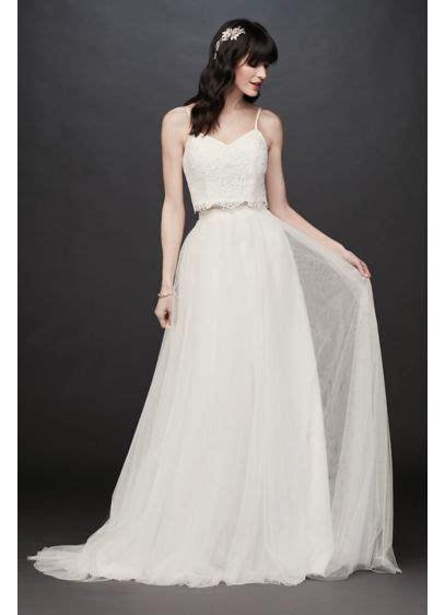 lace  tulle  piece   wedding dress davids bridal