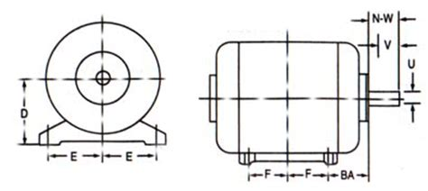 Electric Motor Sizes by Electrical Motors Frame Sizes