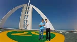 Federer and Djokovic pose atop Dubai's seven-star hotel ...