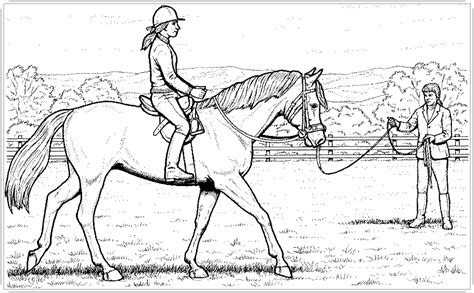 ausmalbilder pferde mit reiter ausmalbilder