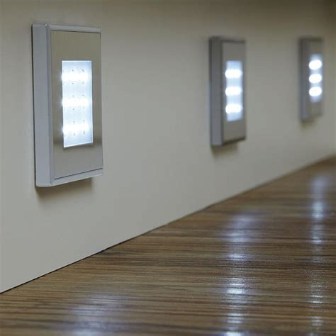 Endon EL 10080 Set of 3 stainless steel square LED plinth