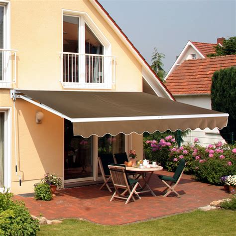 patio awning canopy retractable deck door outdoor sun shade shelter ebay