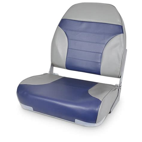 High Back Fishing Boat Seats by Deluxe High Back 2 Tone Fishing Boat Seat 640169 Fold