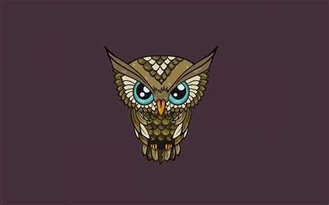 Background Digital Owl Wallpaper by Digital Minimalism Nature Simple Background