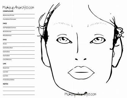 Chart Blank Template Mac Eye Face Makeup