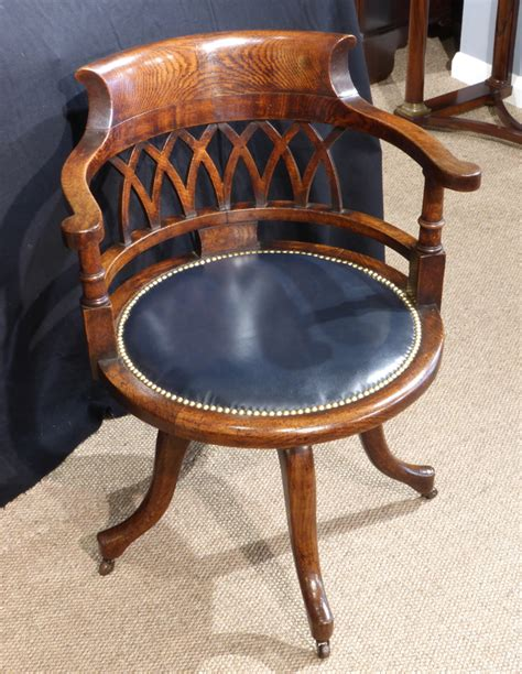 antique office chair captains chair swivelling chair