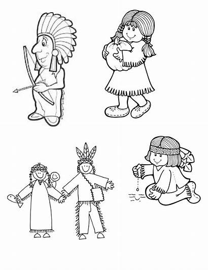 Native American Indian Clipart Drawings Drawing Children