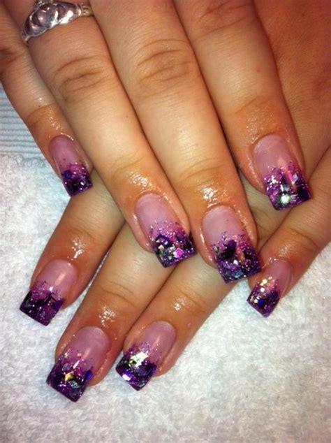 day  glitter french nail art nails magazine