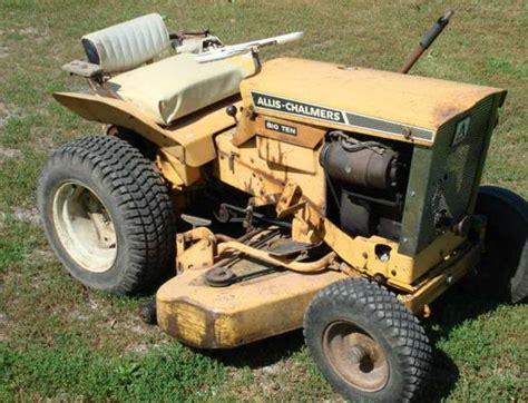 allis chalmers big ten lawn tractor  tiffin