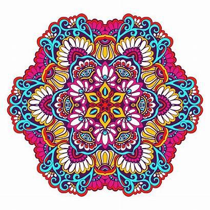 Mandala Vector Decorative Colored Freepik Vectors Illustration