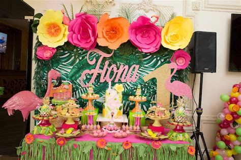 Kara's Party Ideas Tropical Flamingo Paradise Birthday