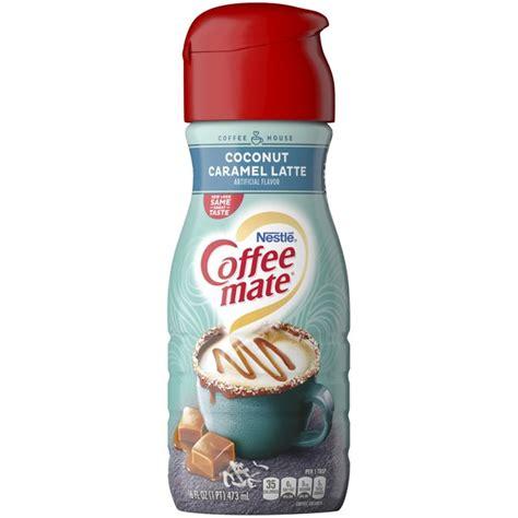 Corn syrup solids, hydrogenated vegetable oil. Coffee Mate Non-Dairy Coffee Creamer, Coconut Caramel Latte, 16 Oz - Walmart.com - Walmart.com