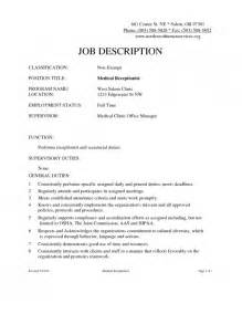 stylish receptionist job description for resume resume