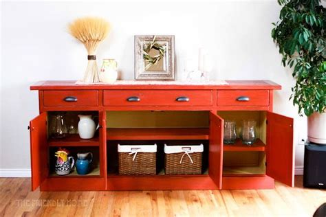 How To Make A Buffet From Kitchen Cabinets
