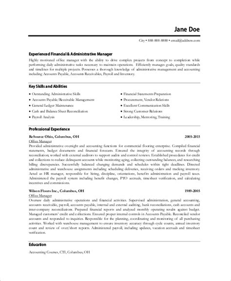 Office Manager Resume Template by Sle Office Manager Resume 8 Exles In Word Pdf