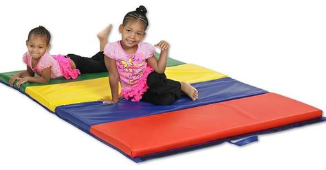 Ecr4kids Softzone 4-section Folding Panel Kids Tumbling