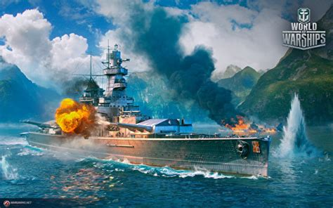 wallpapers world  warship firing german cruiser admiral