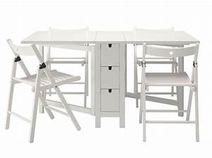 Tables Pliantes Ikea : table chaises pliantes ikea chaque cm compte quand on habite un studio ou un petit appartement ~ Farleysfitness.com Idées de Décoration
