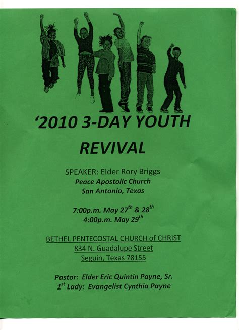 Church Revival Themes And Scriptures
