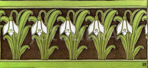 Art Nouveau Wallpaper Border Design