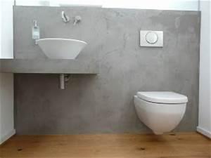 Bad Betonoptik Holz : die 25 besten ideen zu beton badezimmer auf pinterest ~ Michelbontemps.com Haus und Dekorationen