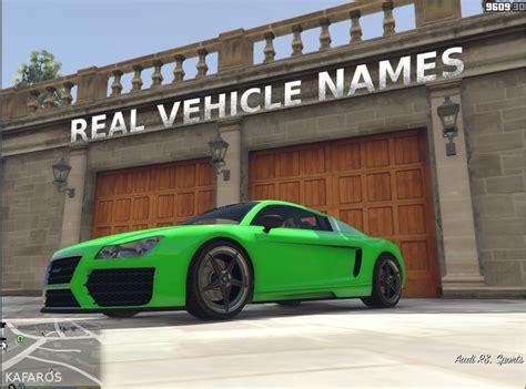 Gta 5 Real Vehicle Names Mod