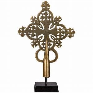 14th Century Bronze Processional Cross, Ethiopia