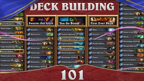 Hearthstone Deck Building 101 Early Game Aggro Druid