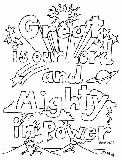 Coloring Pages Psalms Printable Getcolorings