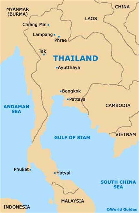 Bangkok Thailand On World Map