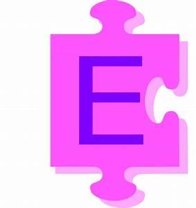 letter e inside puzzle piece clip art at clkercom With puzzle piece letters