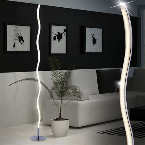 Led Living Room Floor Ls by Led Curved Floor L Satin Nickel Be Fabulous Lights