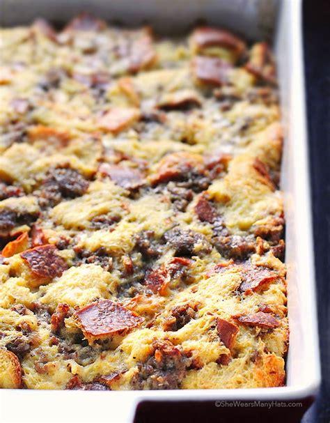 easy brunch casserole recipes easy sausage cheese breakfast casserole recipe she wears many hats