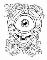 Coloring Eye Pages Printable Eyeball Fireball Getcolorings Getdrawings sketch template