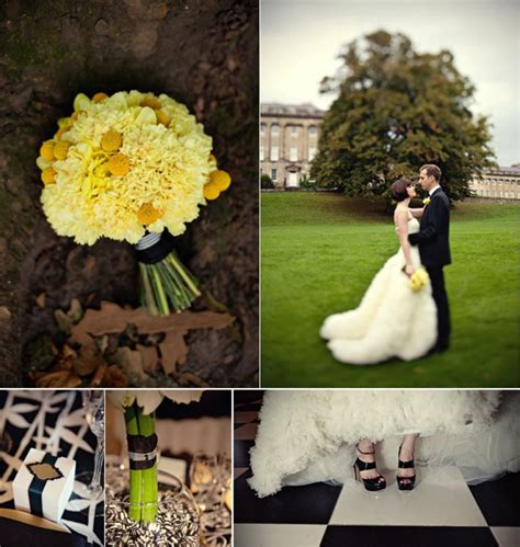 black white wedding  boldgold pops