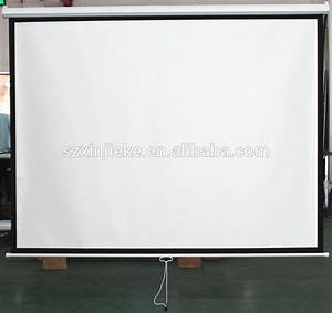 Cheap Manual Pull Down Projector Screen Board For Led