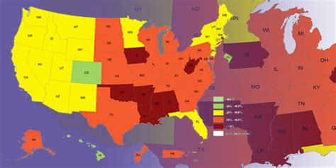 adult obesity prevalence maps overweight obesity cdc