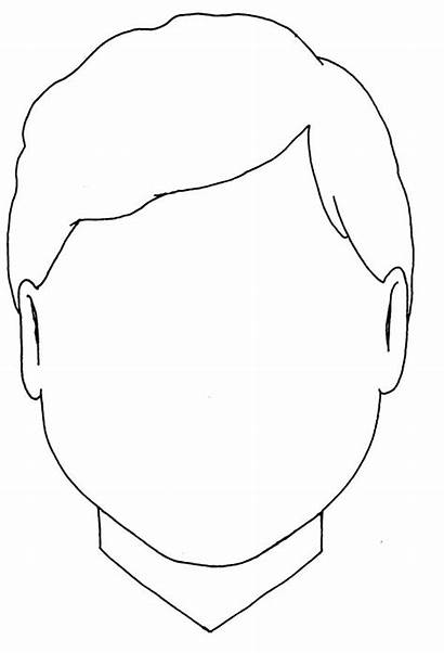 Face Blank Boy Outline Coloring Type Template