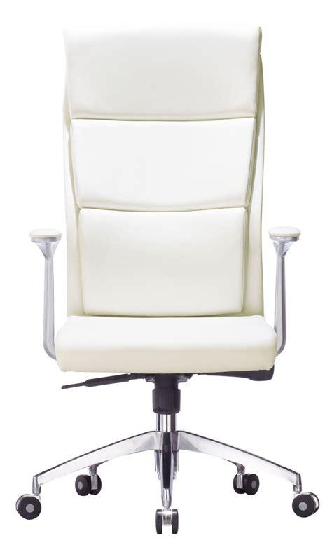 fauteuil de bureau en cuir blanc fira