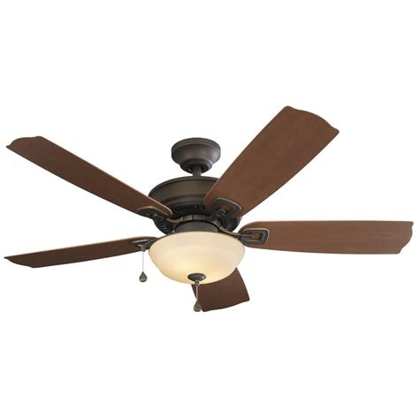 harbor breeze outdoor ceiling fan shop harbor breeze echolake 52 in oil rubbed bronze indoor