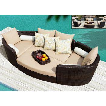 Venice 4-piece Patio Modular Deep Seating Lounge Set by