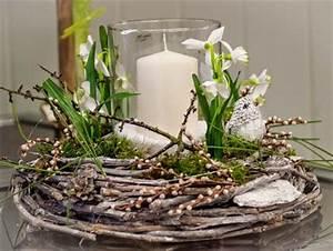 Blumenzwiebeln Im Glas : licht im winter rebenkranz winterdeko kerze kunstblumen schneegl ckchen floristik ebk ~ Markanthonyermac.com Haus und Dekorationen