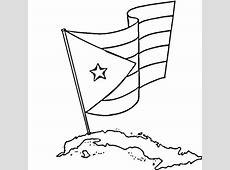 Dibujo de Bandera de Cuba para colorear Dibujos para