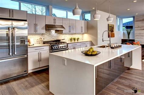 kitchen island with built in table big kitchen island with sink and storage also a big fridge