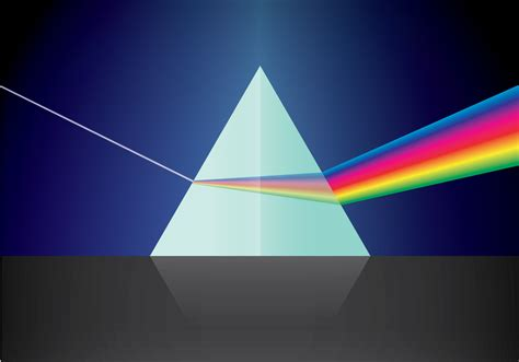 triangular prism  light   vector art