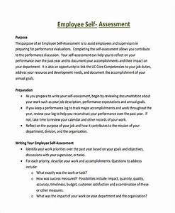 writing a self performance review With self assessment templates employees
