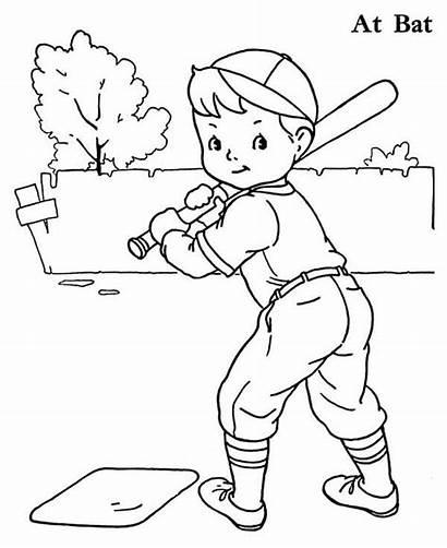 Coloring Baseball Boy Player Pages Printable Drawing