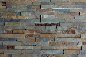 Mur En Pierre Interieur Moderne : plaquettes de parement mural en pierre naturelle multicolore d kostone ~ Melissatoandfro.com Idées de Décoration
