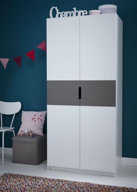 chambre gris perle et blanc armoire 2 portes sacha blanc perle gris basalte