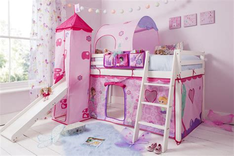 childrens bedside ls bedroom cabin bed mid sleeper kids bed with slide and mattress
